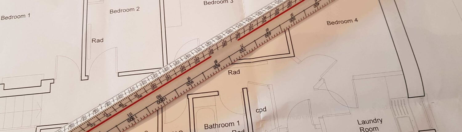 Building survey plan layout of an old traditional house
